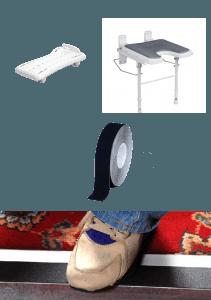 les accessoires en ligne ruban antidérapant chaise de douche et planche de bain