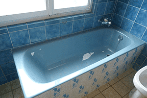 Avant la découpe de la baignoire
