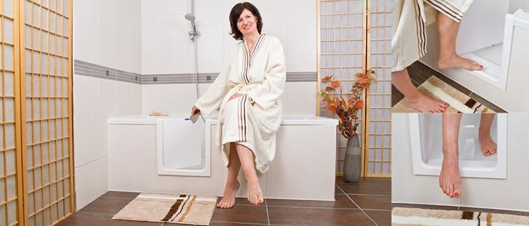 porte pour baignoire existante