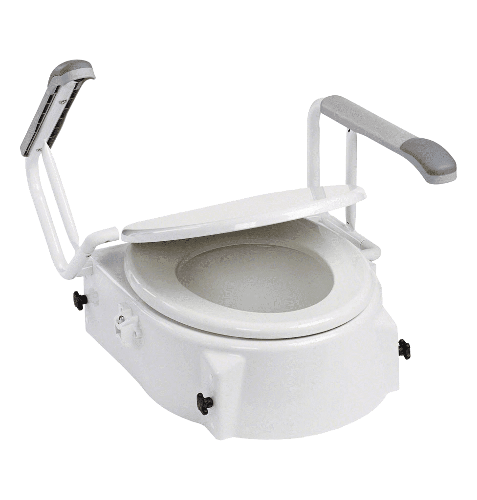 Réhausseur de toilettes réglable en hauteur et inclinaison