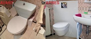 remplacement des sanitaires de la salle de bain