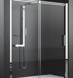 Novellini diamanti porte coulissante pour douche en niche