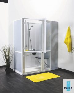 Porte pour la partie haute de la cabine de douche