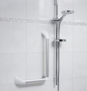 Barre de soutien en angle 90 degrés installation douche